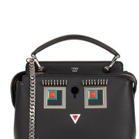 Fendi Dotcom mini black Square Eyes shoulder bag at Harvey Nichols