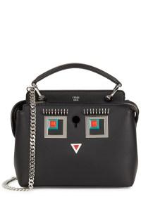 Fendi Dotcom mini black Square Eyes shoulder bag at Harvey Nichols