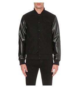 BOY LONDON Contrast wool-blend varsity jacket at Selfridges