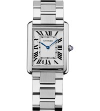 CARTIER - Tank Solo steel large watch at Selfridges