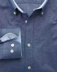 Classic fit denim blue washed Oxford shirt at Charles Tyrwhitt