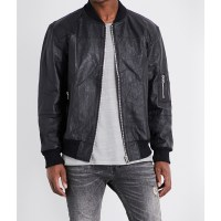 DEADWOOD - Wild Streets recycled leather bomber jacket at Selfridges