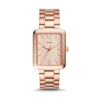Fossil Atwater Three-Hand Rose Gold-Tone Stainless Steel Watch