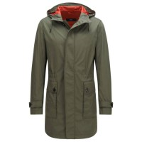 Hugo Boss Water-repellent hooded parka in material blend 'Coban'