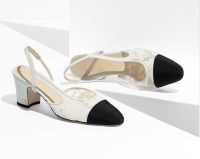 Sling-back shoes by Chanel