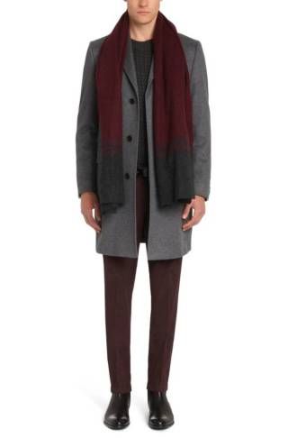 Tailored coat in cashmere by Hugo Boss
