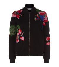 Valentino Tropical Intarsia Bomber Jacket at Harrods
