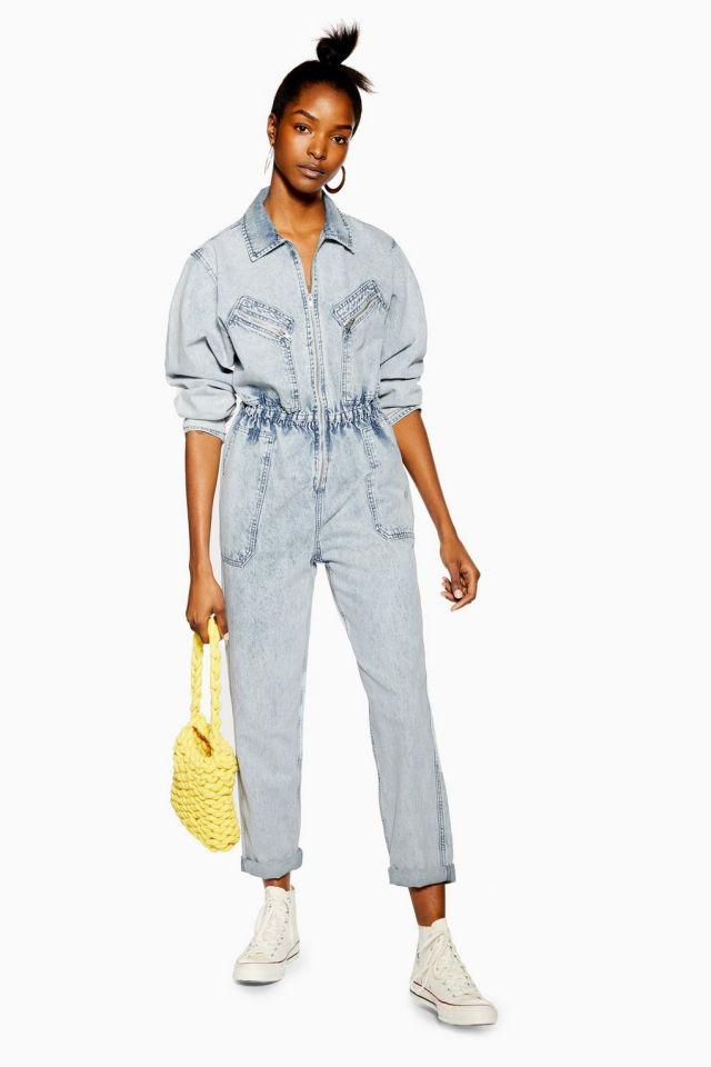 Acid Wash Zip Boiler Suit