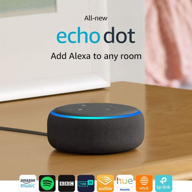 All-new Echo Dot (3rd Gen) - Smart speaker with Alexa