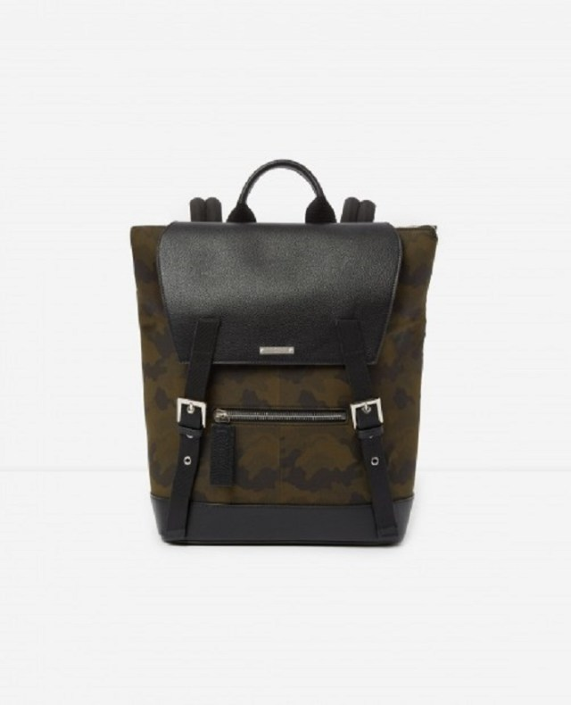 GRAPHIC CAMOUFLAGE LEATHER BACKPACK ZAYN BY THE KOOPLES
