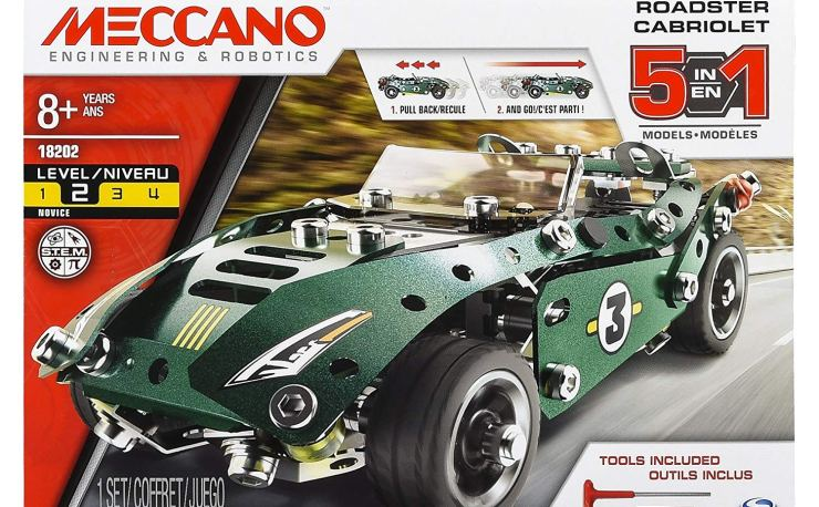 Meccano Roadster Cabriolet 5 in 1 model set at Amazon
