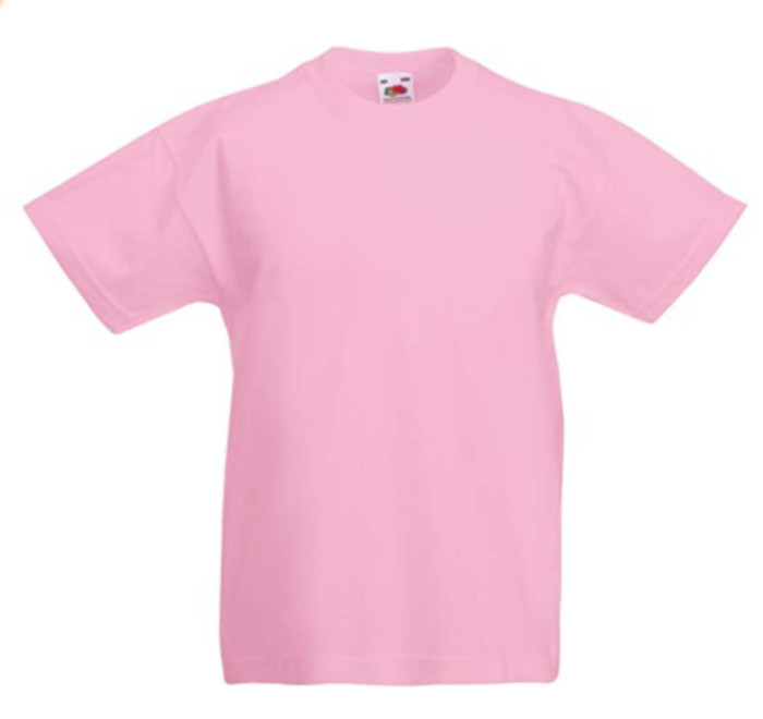New Fruit of the Loom Childrens Kids Value Cotton T Shirt pink