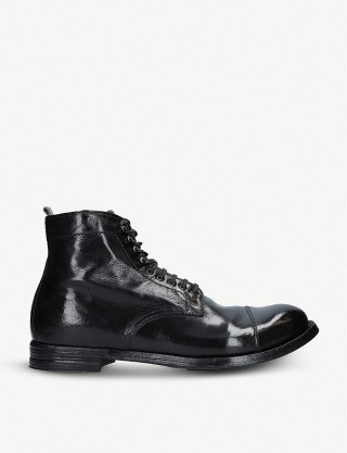 Officine Creative anatomia 16 leather ankle boots at Selfridges