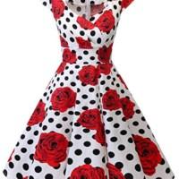 bbonlinedress Women's 50s 60s A Line Rockabilly Dress