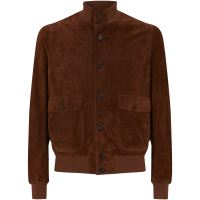 Eleventy suede-bomber-jacket