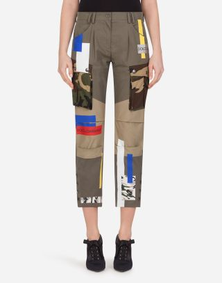 Military style cotton pants by Dolce & Gabbana