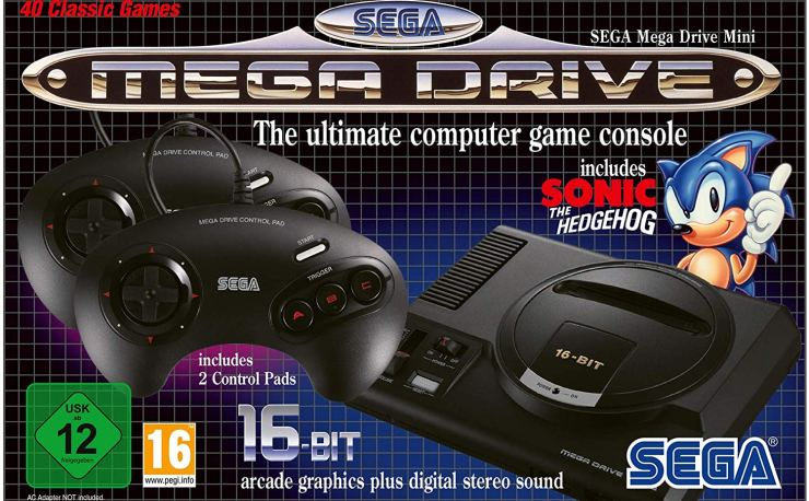 SEGA Mega Drive Mini (Electronic Games) at Amazon