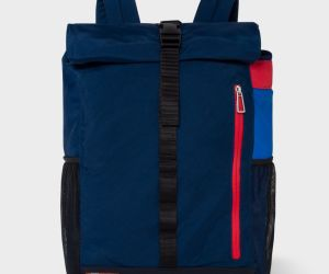 Paul Smith Men's Navy Roll-Top Backpack