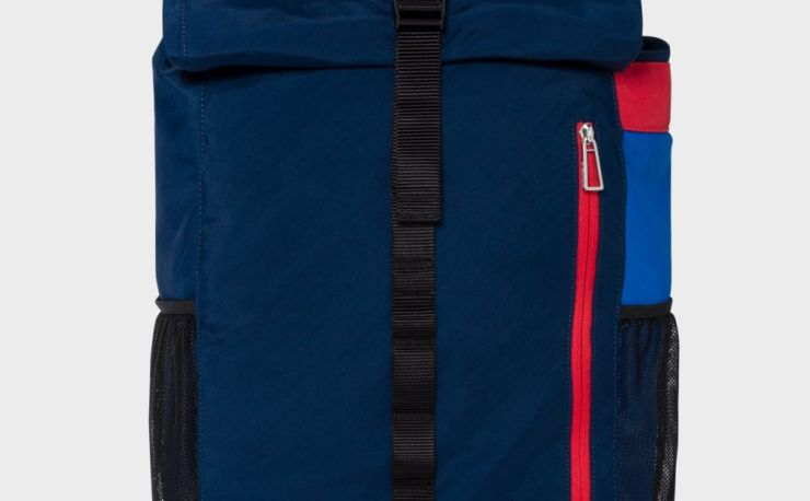 Paul Smith Men's Navy Roll-Top Backpack
