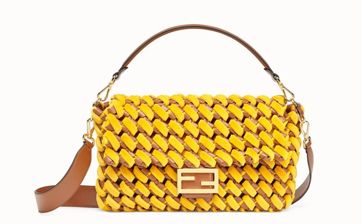 Fendi-shoulder-bag-yellow-nappa-leather-and-mink-bag