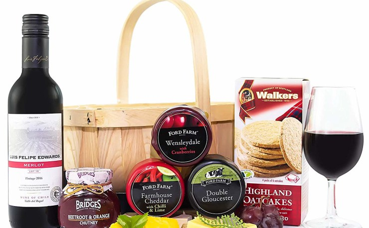 Prestige Hampers Cheese & Wine Basket