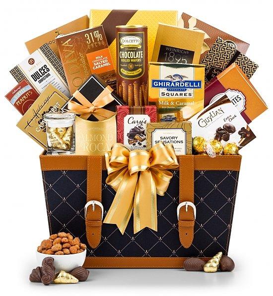 Gold Gift Basket