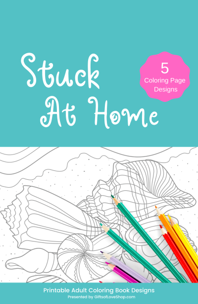 Stuck at Home Adult Coloring Pages