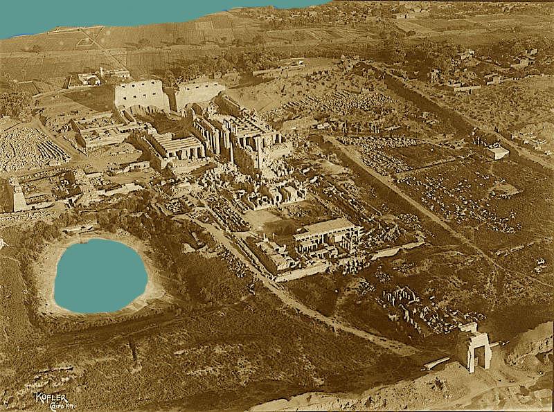 Karnak Temple before restoration in 1914