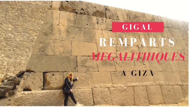 Murs mégalithiques de Giza
