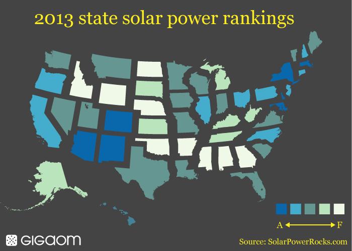 Solar power heat map