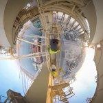 Virtual Reality Crane Walk
