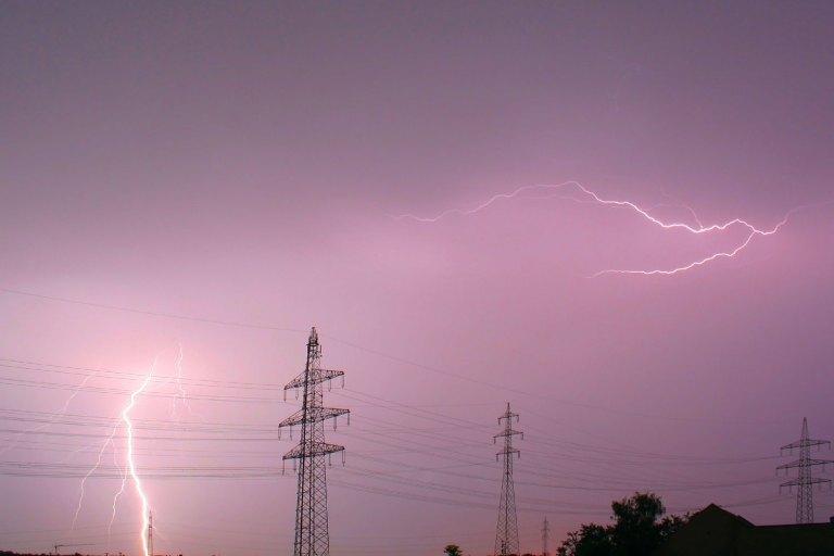 lightning near at the toower