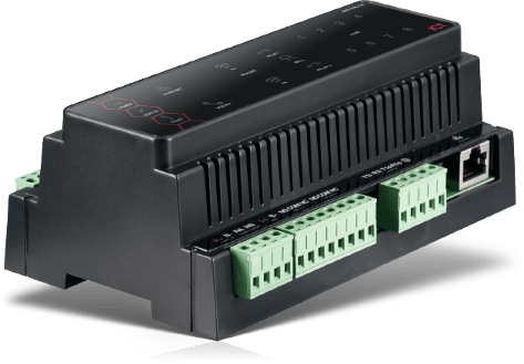 DIN Rail from Protege used for destination dispatch
