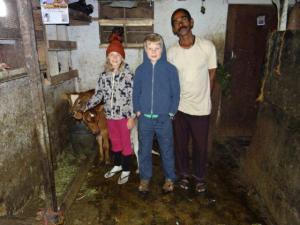 Julia, Anthony und ich im Stall...