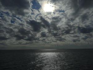 Schöne Stimmung auf dem Meer