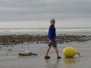 Auskundschaften am Strand...