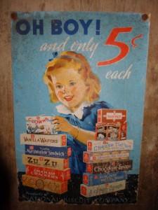 Das waren noch Zeiten... originales Plakat in einer alten Mühle...