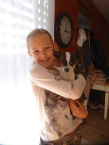 Julia und Roxi... ein kleiner Hund mit Pfifffff! Echt süss! :-)