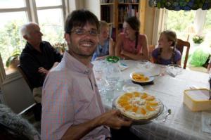 Geburtstagskuchen... die Kerzlein können für Julia's Geburtstag gespart werden... meinte Claudio!