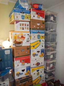 wir freuen uns die Schachteln bald auspacken zu können...