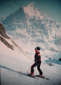 Auf den Skis waren wir viel unterwegs