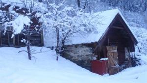 Bald werden wir von diesem Holzlager gebraucht machen... wir warten sehnlichst bis der Ofen ankommt... zum Glück gibt es auch Strom... wir sind also nicht am frieren! :-)