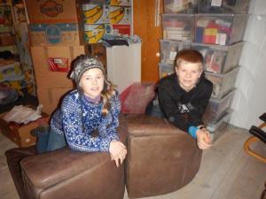 Das Sofa von Mormor ist nun bei uns in Norewgen! :-)