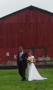 Kirsten die Braut mit Vater...