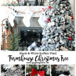 Black And White Buffalo Plaid Farmhouse Christmas Tree Giggles Galore