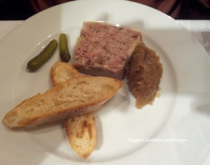 Duck terrine from Chez Jenny