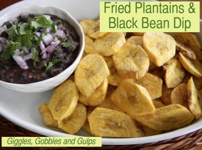 Fried Plantains and Black Bean Dip