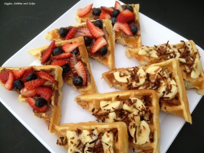 Back To School Breakfast Ideas - Breakfast Waffle Bruschetta