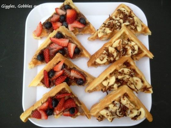 Breakfast Waffle Bruschetta