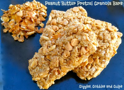Easy Peanut Butter Pretzel Granola Bars